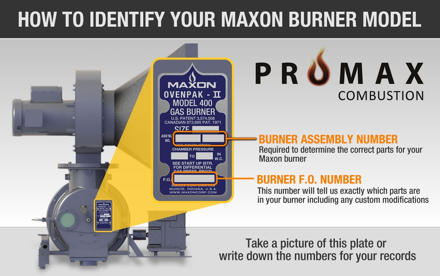 maxon ovenpak i parts identifier promax combustionpromax please choose the model of your maxon burner